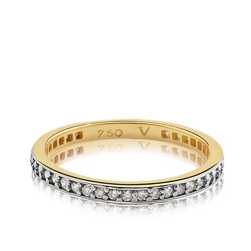 e1674699be8f2 Meia Aliança Ouro Amarelo e Diamantes - Colecao Jazz