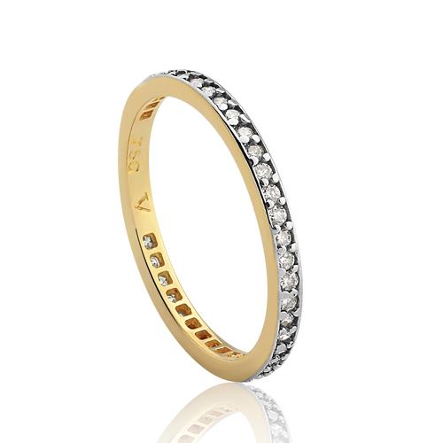 Meia Aliança Ouro Amarelo e Diamantes - Colecao Jazz 5cbfa59a82