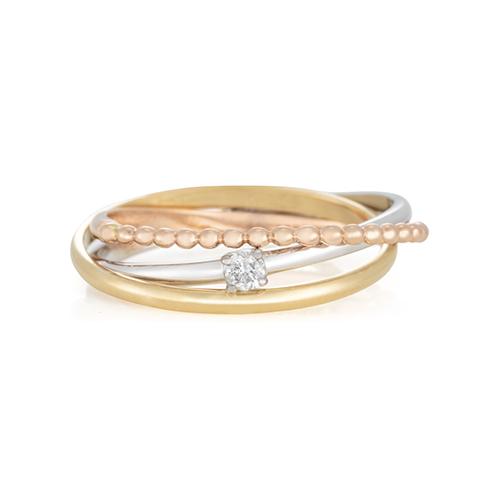 898240aaafea1 ... AneisAnel ouro amarelo ouro branco ouro rosé e diamante - coleção  twist. Passe o mouse para ampliar. Confira o estoque deste produto nas lojas