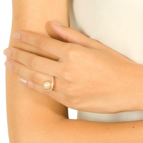 b15f73a03 ... AneisAnel ouro amarelo pérola e diamantes - coleção fitas. Passe o  mouse para ampliar. Confira o estoque deste produto nas lojas