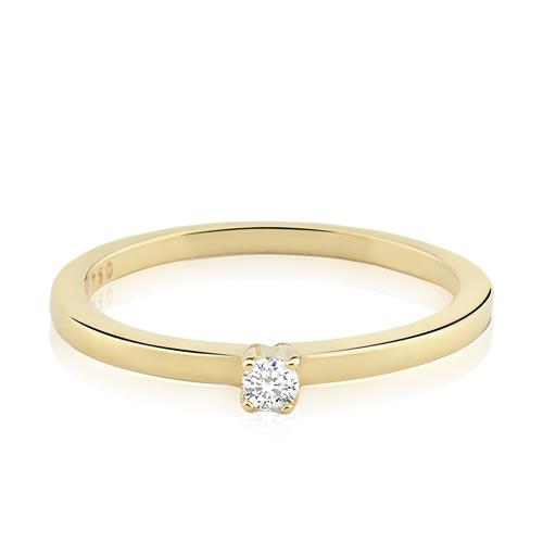 22b76eaba Solitário Ouro Amarelo e 10 Pontos de Diamantes - Colecao Solitário