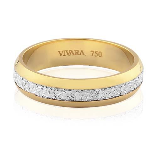cdad03ffae1ba Aliança de Casamento Ouro Branco e Ouro Amarelo - Colecao Bride
