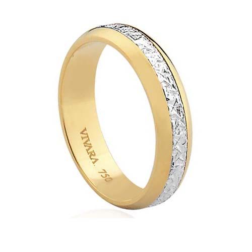 Aliança de Casamento Ouro Branco e Ouro Amarelo - Colecao Bride 1a7342a2e0