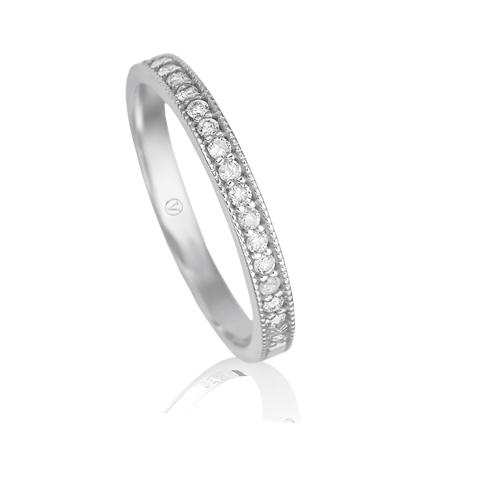 ... AliançasMeia aliança ouro branco e diamantes - coleção jazz. Passe o  mouse para ampliar c52ff01045