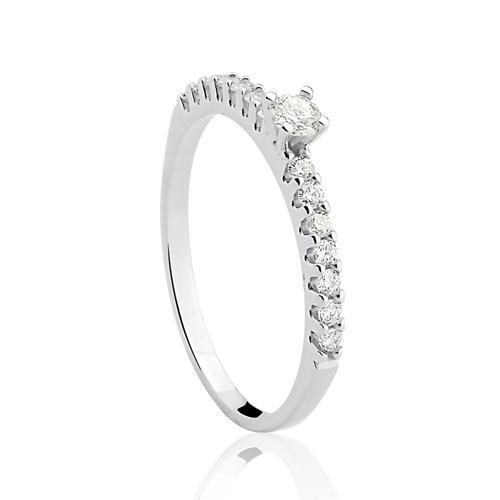 484508980d4ae Vivara Joias Anéis Solitários Solitário ouro branco e 34 pontos de diamantes  - coleção solitário. Passe o mouse para ampliar