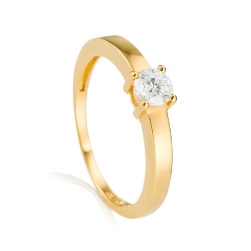 8f0c00ffde54c Solitário Ouro Amarelo e 30 Pontos de Diamantes - Colecao Solitário