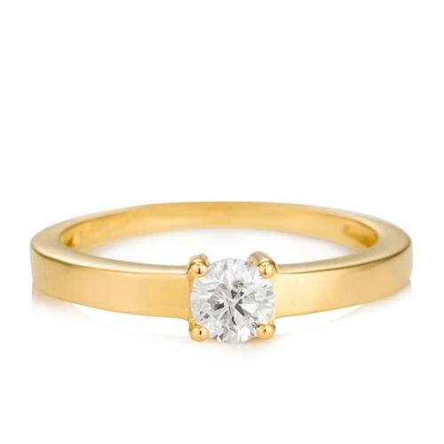 96affd563845e Solitário Ouro Amarelo e 40 Pontos de Diamantes - Colecao Solitário