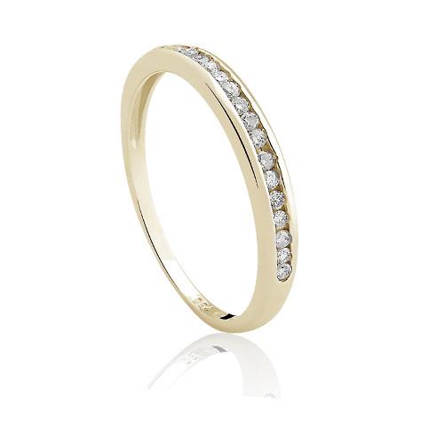 8b3cbb1c9271a Meia Aliança Ouro Amarelo e Diamantes - Colecao Meia Aliança