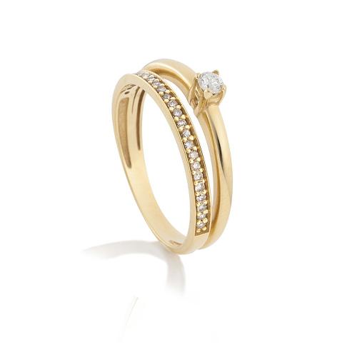 b3a027c44 ... ouro amarelo e 20 pontos de diamantes - coleção solitário. Passe o  mouse para ampliar. Confira o estoque deste produto nas lojas