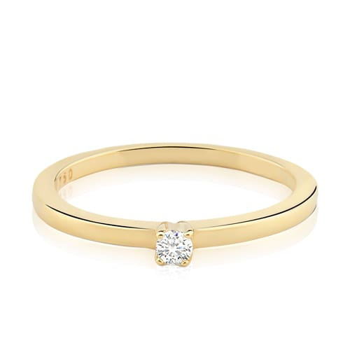 Solitário Ouro Amarelo e 14 Pontos de Diamantes - Colecao Solitário 371d3a05be