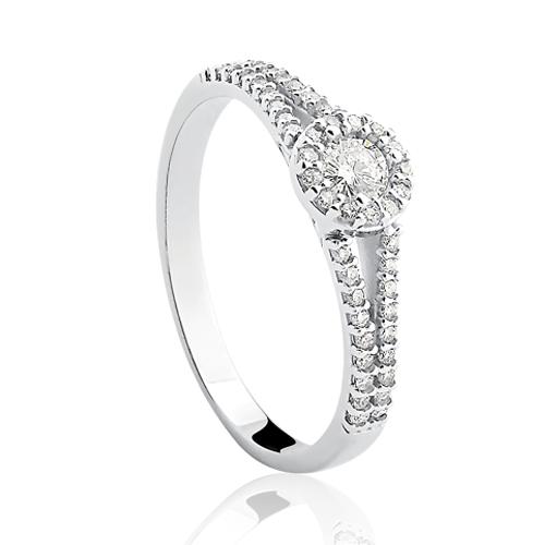 f9ca4d8cf04f0 Solitário Ouro Branco e 34,6 Pontos de Diamantes - Colecao Solitário