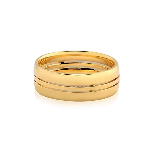 Aliança de Casamento Ouro Amarelo - Colecao Love Me f1f8689f05