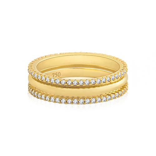 03fc158d862 Aliança de Casamento Ouro Amarelo e Diamantes - Colecao Love Me