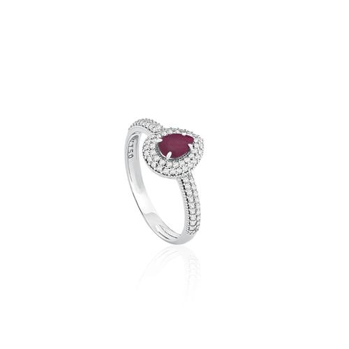 a59be080c80 ... AneisAnel ouro branco diamantes e rubi - coleção classic oriental.  Passe o mouse para ampliar