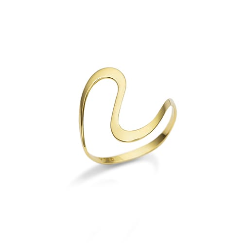 Anel Curvas Ouro Amarelo - Colecao Gold 68de6fb5ce