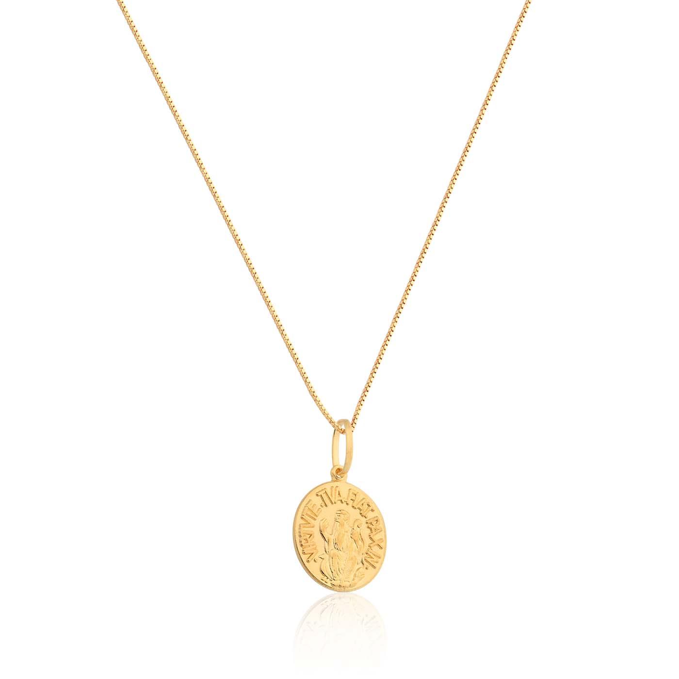 19cec3c4379d0 ... FéPingente são bento ouro amarelo - coleção medalhas. Passe o mouse  para ampliar. Confira o estoque deste produto nas lojas