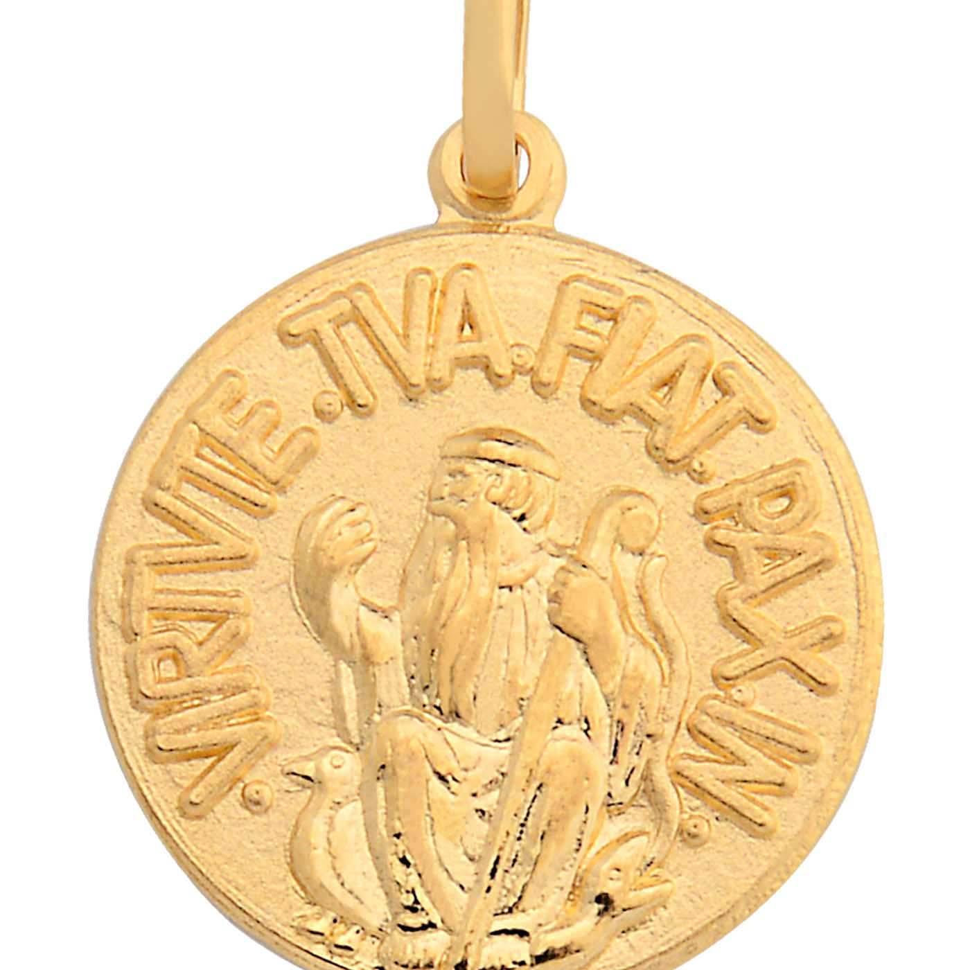 e6b2ebfe07e67 Pingente São Bento Ouro Amarelo - Colecao Medalhas