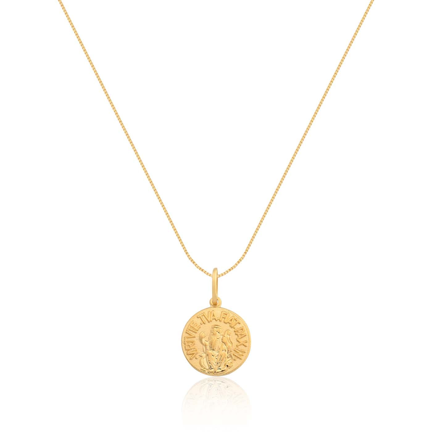 49ee87e860ed1 Pingente São Bento Ouro Amarelo - Colecao Medalhas