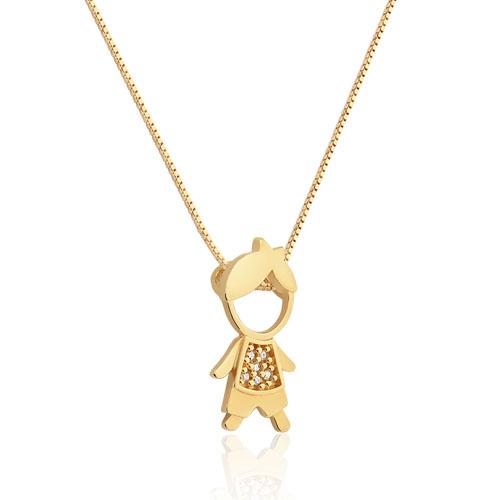 a642491c35ff6 Pingente Menino Ouro Amarelo e Diamantes - Colecao Mama