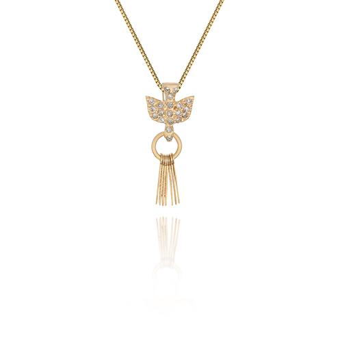 b4e124daca658 Pingente Medalha Espirito Santo Ouro Amarelo e Diamante - Colecao Medalhas