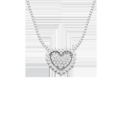 Pingente Coração Ouro Branco e Diamantes de5cc791c3