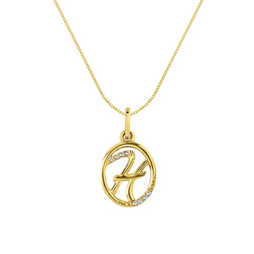 a598d20edf91b Pingente Letra H Ouro Amarelo e Diamantes - Colecao Letras