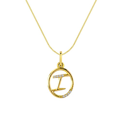 6abe3d6b761af Pingente Letra I Ouro Amarelo e Diamantes - Colecao Letras