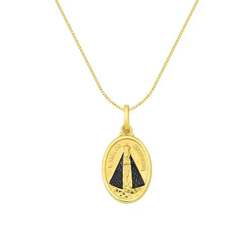 Pingente Nossa Senhora Aparecida Ouro Amarelo - Colecao Medalhas 0bce72efd1