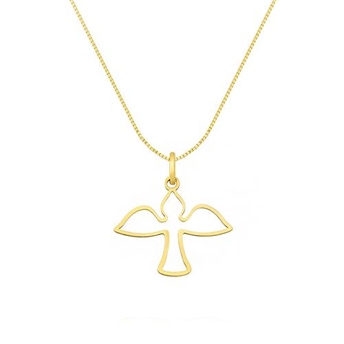 f0a6d87648d42 Pingente Espírito Santo Ouro Amarelo - Colecao Medalhas
