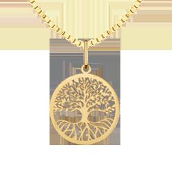 f75b781cc88b7 Pingente Árvore da Vida Ouro Amarelo - Colecao Medalhas