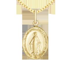 2ad52160211a5 Pingente Nossa Senhora das Graças Ouro Amarelo - Colecao Medalhas