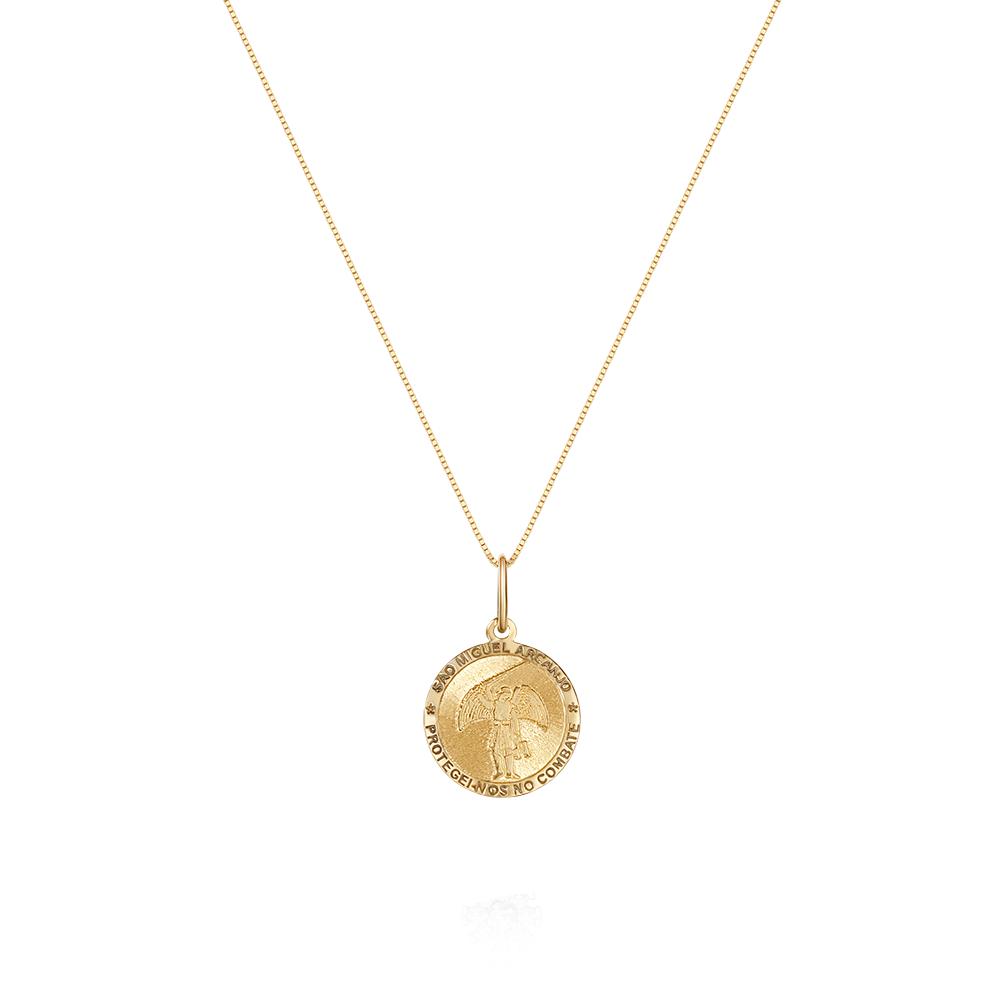 2a14f738266f1 Pingente São Miguel Arcanjo Ouro Amarelo - Colecao Medalhas