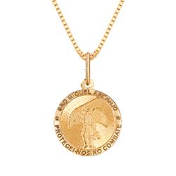Pingente São Miguel Arcanjo Ouro Amarelo c0f55879cd