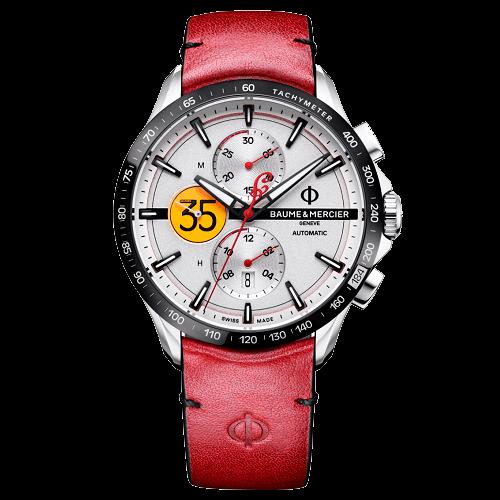 f52f9411786 Relógio Baume   Mercier Masculino Couro Vermelho - M0A10404
