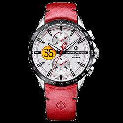 ab7b2fbe509 Relógio Baume   Mercier Masculino Couro Vermelho - M0A10404