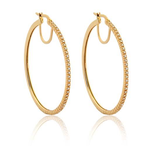Argola Ouro Amarelo e Diamantes - Colecao Argolas 4adc51b088