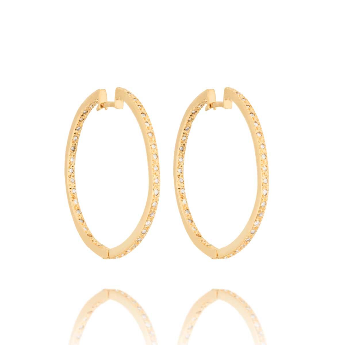 392d76da734d1 Argola Ouro Amarelo e Diamantes - Colecao Argolas