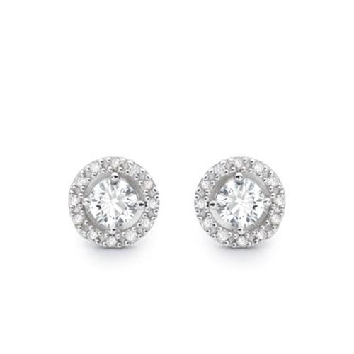 Brinco Solitário Ouro Branco e 49,6 Pontos de Diamantes - Colecao Solitário 14faba1a05