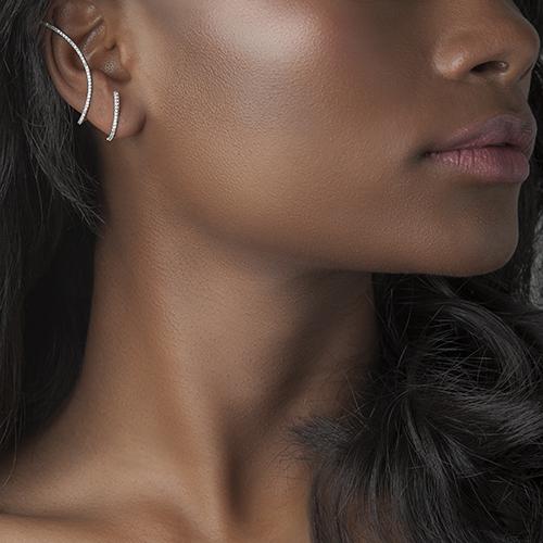 Brinco Ear Cuff Ouro Branco e Diamantes - Colecao Silhueta 5b0c018b2b