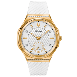 ca92e223a91 Relógio Bulova Feminino Borracha Branca - 98R237