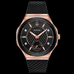 955e7873b4d Relógio Bulova Feminino Borracha Preta - 98R239