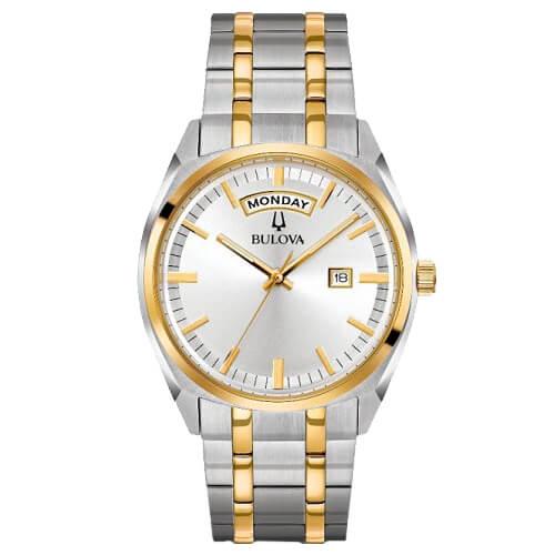 23626c82612 Relógio Bulova Masculino Aço Prateado e Dourado - 98C127