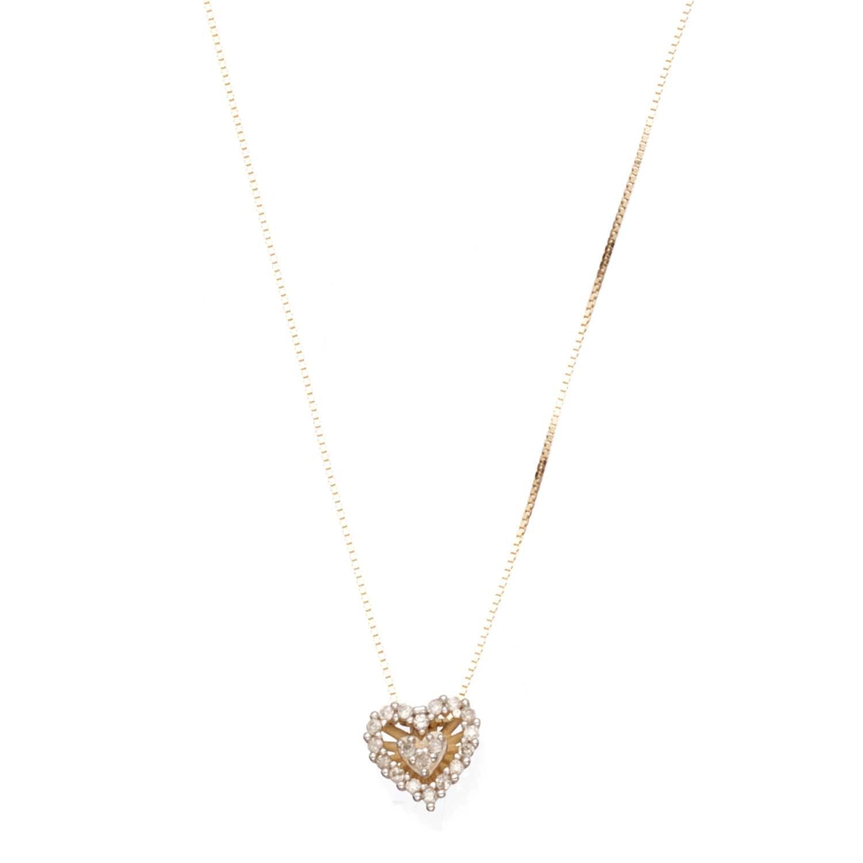 Colar Coração Ouro Amarelo e Diamantes - Colecao Sentidos 0f515be484