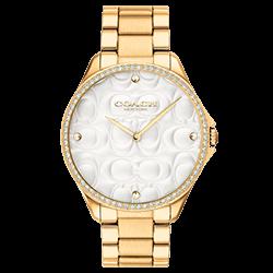 e699ce2a5ee Relógio Coach Feminino Aço Dourado - 14503067