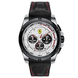 cbf8f6e3f37 Relógio Scuderia Ferrari Masculino Couro Preto - 830031