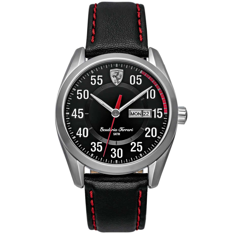 43aa98bc7c2 Relógio Scuderia Ferrari Masculino Couro Preto - 830173
