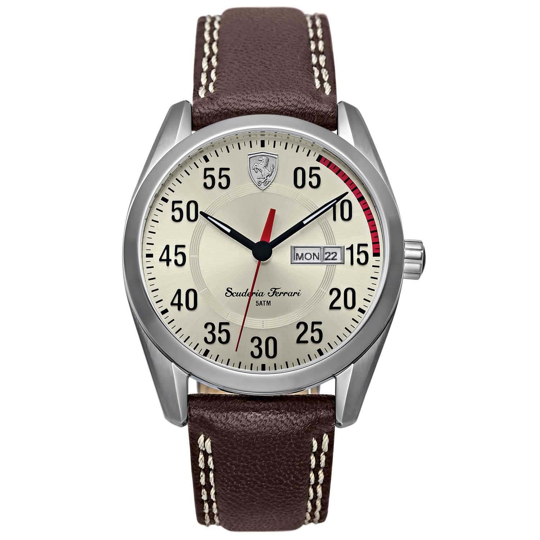 1439620df87 Relógio Scuderia Ferrari Masculino Couro Marrom - 830175
