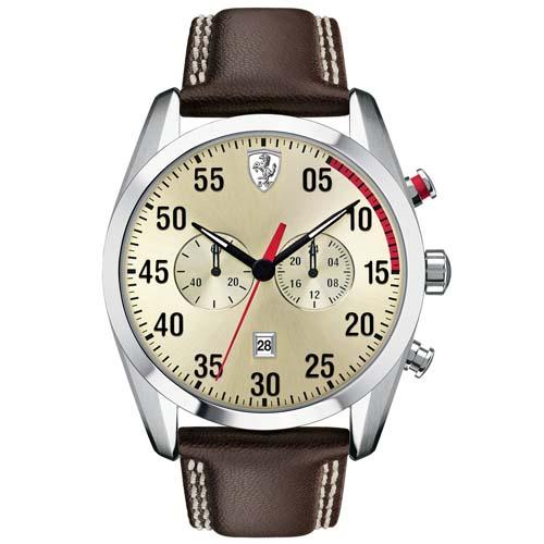 6cafe754f80 Relógio Scuderia Ferrari Masculino Couro Marrom - 830174