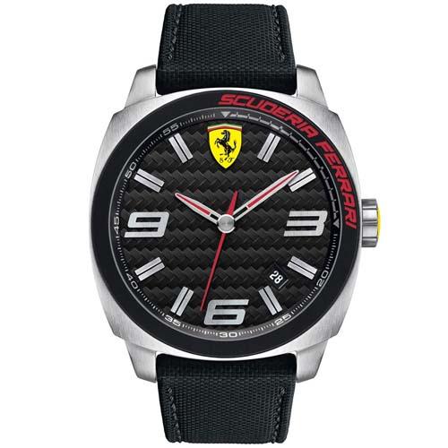 4e004c5e721 Relógio Scuderia Ferrari Masculino Nylon Preto - 830163