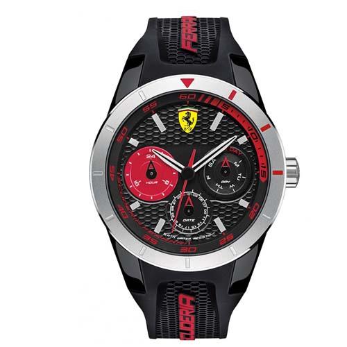cc12901fb5e Relógio Scuderia Ferrari Masculino Borracha Preta - 830254
